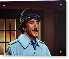 Peter Sellers As Inspector Clouseau  Acrylic Print by Paul Meijering