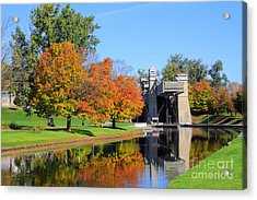 Peterborough Lift Lock Acrylic Print by Charline Xia
