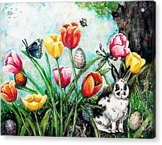 Peters Easter Garden Acrylic Print by Shana Rowe Jackson