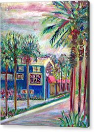 Pete's Bar In Neptune Beach Acrylic Print by Patricia Taylor