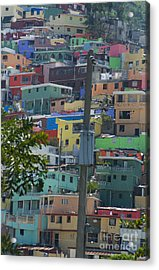 Petionville Mountain Acrylic Print by Jim Wright