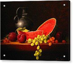 Petite Watermelon Acrylic Print by Sean Taber
