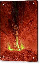 Petra Night Journey Acrylic Print by Stephen Stookey