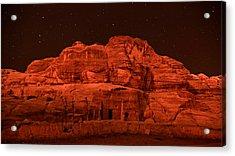 Petra Nights Acrylic Print by Stephen Stookey