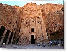 Petra Tomb Acrylic Print by Stephen Stookey