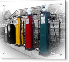 Roberto Alamino Acrylic Print featuring the photograph Petrol Station by Roberto Alamino