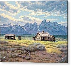 Pfeiffer Homestead-tetons Acrylic Print by Paul Krapf