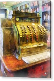 Pharmacist - Cash Register In Pharmacy Acrylic Print by Susan Savad