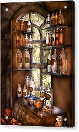 Pharmacist - Various Potions Acrylic Print by Mike Savad