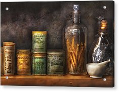 Pharmacy - Cough Drops And Kidney Pills Acrylic Print by Mike Savad