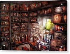 Pharmacy - Equipment - Merlin's Study Acrylic Print by Mike Savad