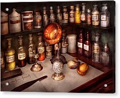 Pharmacy - Items From The Specialist Acrylic Print by Mike Savad