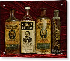 Pharmacy - Liniments For Sore Muscles Acrylic Print by Paul Ward