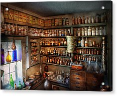 Pharmacy - Medicinal Chemistry Acrylic Print by Mike Savad
