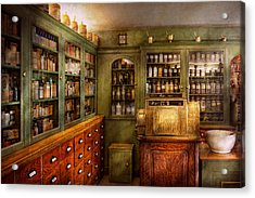 Pharmacy - Room - The Dispensary Acrylic Print by Mike Savad