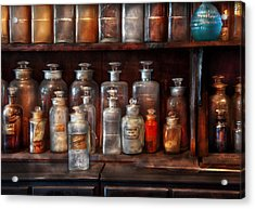 Pharmacy - The Chemistry Set Acrylic Print by Mike Savad