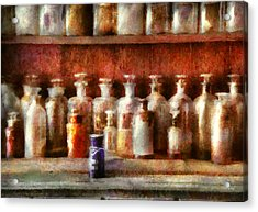 Pharmacy - The Medicine Counter Acrylic Print by Mike Savad