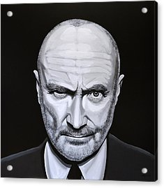 Phil Collins Acrylic Print by Paul Meijering