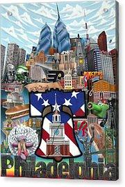 Philadelphia Acrylic Print by Brett Sauce