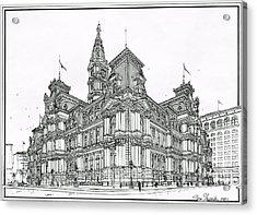 Philadelphia City Hall 1911 Acrylic Print by Ira Shander