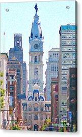 Philadelphia City Hall 20130703 Acrylic Print by Wingsdomain Art and Photography