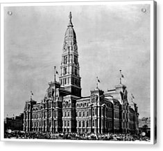 Philadelphia City Hall Acrylic Print by Benjamin Yeager