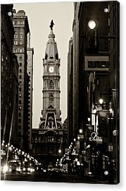 Philadelphia City Hall Acrylic Print by Louis Dallara