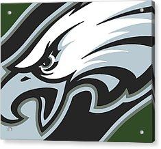 Philadelphia Eagles Football Acrylic Print by Tony Rubino