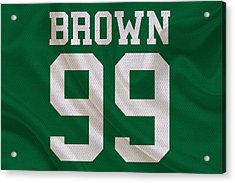 Philadelphia Eagles Jerome Brown Acrylic Print by Joe Hamilton