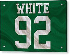 Philadelphia Eagles Reggie White Acrylic Print by Joe Hamilton