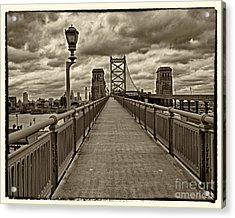 Philadelphia From Ben Franklin Bridge 1 Acrylic Print by Jack Paolini