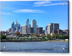 Philadelphia Living Acrylic Print by Olivier Le Queinec