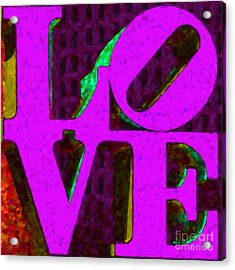 Philadelphia Love - Painterly V2 Acrylic Print by Wingsdomain Art and Photography