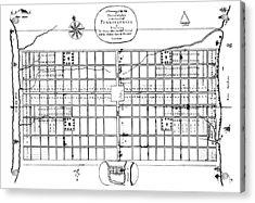 Philadelphia: Map, 1683 Acrylic Print by Granger