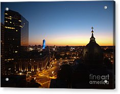 Philadelphia Night Acrylic Print by Tatianne Lugo