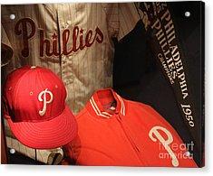 Philadelphia Phillies Acrylic Print by David Rucker