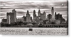 Philadelphia Silver Acrylic Print by Olivier Le Queinec