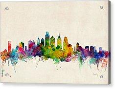 Philadelphia Skyline Acrylic Print by Michael Tompsett
