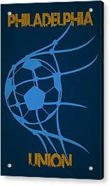 Philadelphia Union Goal Acrylic Print by Joe Hamilton