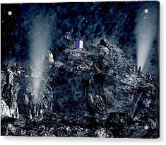 Philae Lander Descending Onto Comet Acrylic Print by European Space Agency,medialab