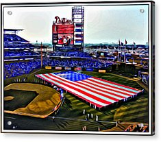 Phillies American Acrylic Print by Alice Gipson