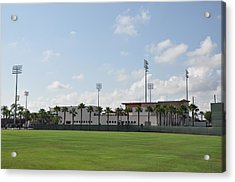 Phillies Brighthouse Stadium Clearwater Florida Acrylic Print by Bill Cannon