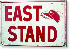 Phillies East Stand Sign - Connie Mack Stadium Acrylic Print by Bill Cannon