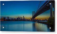 Philly Skyline Acrylic Print by David Hahn