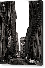 Philly Street Acrylic Print by Olivier Le Queinec