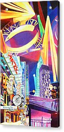 Phish New Years In New York Left Panel Acrylic Print by Joshua Morton