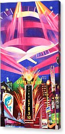 Phish New Years In New York Middle Acrylic Print by Joshua Morton