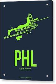 Phl Philadelphia Airport Poster 3 Acrylic Print by Naxart Studio