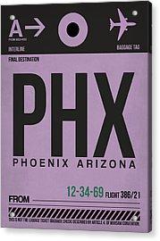 Phoenix Airport Poster 1 Acrylic Print by Naxart Studio