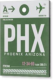 Phoenix Airport Poster 2 Acrylic Print by Naxart Studio